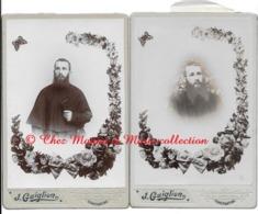 CONSTANTINE - PRETRE CURE FRERE RELIGIEUX - CDV PHOTO 16.5 X 10.5 CM  ALGERIE - LOT DE 2 - Métiers