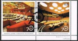 2015 - O.N.U. / UNITED NATIONS - VIENNA / WIEN - SETTANTESIMO ANNIVERSARIO DELLE NAZIONI UNITE. / 70th OF U.N.. USATO - Vienna – International Centre
