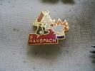 Pin's Des Sapeurs Pompiers De La Ville De RANSPACH (Pompier Avec Moustaches Blanches) - Brandweerman