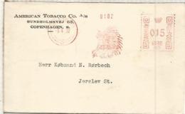DINAMARCA 1932 FRANQUEO MECANICO METER TABACO TOBACCO NATIVO AMERICANO - Indianer