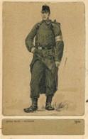 Illustration D'un Infirmier De L'Armée Belge Durant La 1ere Guerre En 1914 - Uniformes