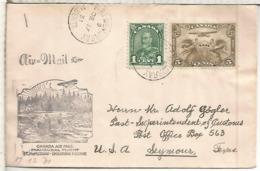CANADA 1931 PRIMER VUELO FORT MCMURRAY EMBARRAS PORTAGE ALBERTA PESCA FISHING - Peces