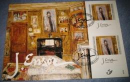 Herdenkingskaart - Carte-souvenir James Ensor 2822 HK Cote 8.50€ Belg.1999 - Souvenir Cards