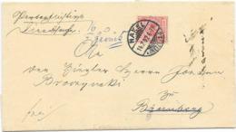 DR Brief EF Krone/Adler Mi.47 Nakel Schlesien 1892 Nach Bromberg, Zurück, Empfänger Nicht Ermittelt, - Deutschland