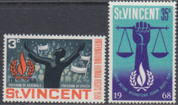St. Vincent 1968 - International Human Rights Year - Mi 241-242 ** MNH - St.Vincent (...-1979)