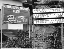 Photo Montage (2 Parties) Togo Eglise Locale D'origine Ghanéenne  Vivant Univers Années 1980 - Afrique
