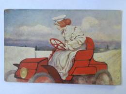 CPA Illustrateur Raphael Tuck - Oilettte - Femme Au Volant D'un Tacot - Tuck, Raphael