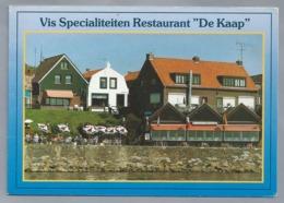 NL. DUBBELE KAART Van Vis Specialiteiten Restaurant - DE KAAP -. URK. Familie Hakvoort. Vuurtoren. - Reclame
