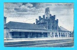 CPA LESSINES LESSEN La Station / Gare 1 Juin 1908 Côté Intérieur - Ed. Van Nieuwenhove, Lessines 2 Scans - Lessines