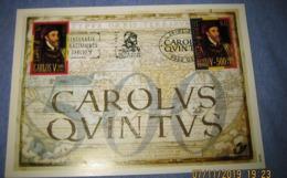 Herdenkingskaart - Carte-souvenir Karel V /Carlos V  2887/88(o) HK Cote 8,5€ België 2000 - Souvenir Cards