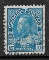 Yvert 116 Michel 112 - 10 C Bleu Clair - O - 1911-1935 Reign Of George V