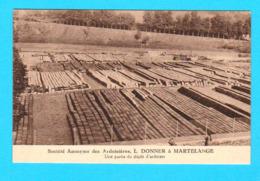 CPA S.A. Des Ardoisières L. DONNER à MARTELANGE - Partie Dépôt D'ardoises - Phototype R. De Chambéry, Brux.-  2 Scans - Martelange