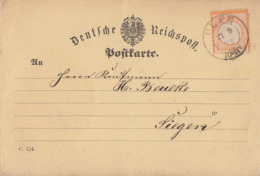 DR Karte EF Minr.18 K2 Olpe 21.9.73 Gel. Nach Siegen - Storia Postale