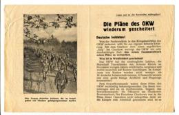 """WWII WW2 Tract Flugblatt Leaflet Soviet Propaganda Against Germany """"Die Pläne Des OKW Wiederum Gescheitert CODE 1533 (4) - 1939-45"""