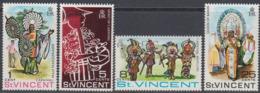 St. Vincent 1969 - Carnival In St. Vincent: Traditional Carnival Costumes - Mi 243-246 ** MNH - St.Vincent (...-1979)