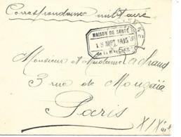 53-Cachet Hôpital -maison De Santé De La Mayenne (texte:Hop. De La Roche-Gandon)il S'agit De L'Asile D'Aliénés Sur Lettr - Poststempel (Briefe)