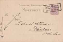 DR Ganzsache R3 Eisenberg I. Sachs. Altenb. 14.12.83 Gel. Nach Werdau - Brieven En Documenten