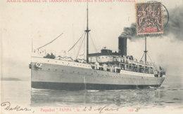 A P 403- C P A . PAQUEBOT  PAMPA   SOCIETE GENERALE DE TRANSPORTS MARITIMES A VAPEUR  MARSEILLE - Paquebote