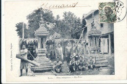 A P 454-  C P A -   LAOS -    FETE RELIGIEUSE EX VOTO - Laos