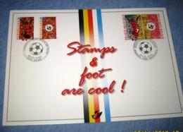Herdenkingskaart - Carte-souvenir Europees Kamp.voetbal 2892 HK België 2000 - Souvenir Cards