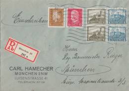 DR Orts-R-Brief Mif Minr.410,414, Zdr. Minr.2x W41 München 17.3.33 - Germany