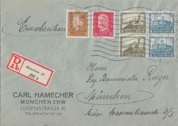 DR Orts-R-Brief Mif Minr.410,414, Zdr. Minr.2x W41 München 17.3.33 - Alemania