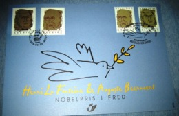 Herdenkingskaart - Carte-souvenir Nobelprijswinnaars 2838/39(o) HK België 1999 - Souvenir Cards