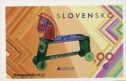 "ESLOVAQUIA/ SLOVAKIA/ SLOWAKEI -EUROPA 2015- JUGUETES ANTIGUOS - OLD TOYS""-   SERIE De ! V. ADHESIVO - CARNET - Europa-CEPT"