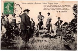 CPA Mézin-Loupillon 47. Monsieur Fallières Dans Ses Vignes, 1911 - France