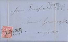 NDP Brief EF Minr.4 R2 Hamm Bahnh. 7.1. - Norddeutscher Postbezirk
