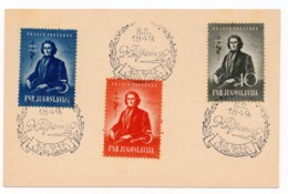 08.02.1949. DF YUGOSLAVIA, FRANCE PRESEREN, SPECIAL CANCELLATION, TITO, 2 DINARA, STATIONERY CARD, USED - Entiers Postaux
