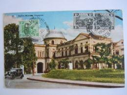 Malay Malaya Malaisie Singapore Raffles Museum Used 1935 Stamp Tiger 1c 2c  Yv 51 53 - Malaysia