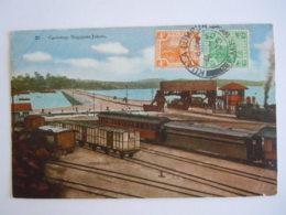 Malay Malaya Malaisie Causeway Singapore-Johore Train Used 1935 Stamp Tiger 2c 4c Yv 53 58 - Malesia