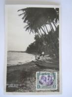 Malaya Malaisie Sea Side View Of Singapore Beach Used 1936 Stamp Johore Sultan Yv 105 - Malesia