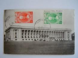 Malaya Malaisie Singapore Municipal Office Used 1937 Stamp Kelantan Sultan Yv 37 38 - Malaysia