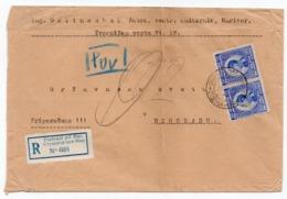 1924 YUGOSLAVIA, SLOVENIA, STUDENCI PRI MARIBORU TO BELGRADE, REGISTERED, FOLD, SEE SCAN - 1919-1929 Royaume Des Serbes, Croates & Slovènes