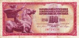 "Yugoslavia 100 DINARA 1965 G-VG P-80a ""free Shipping Via Regular Air Mail (buyer Risk)"" - Joegoslavië"