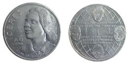 02806 GETTONE TOKEN JETON FICHA COMMEMORATIVE CORETTA SCOTT KING FAO CERES ROME - Italy