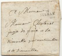 Charente Inférieure - Aulnay Pour La Trimouille. MP 16/AULNAY. 25x9 - 1801-1848: Précurseurs XIX