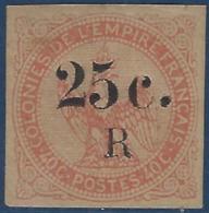 France Colonies Réunion N°4* 25c Sur 40c  Tres Frais & Superbe - Réunion (1852-1975)