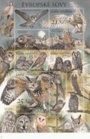 2015 Czech Owls Birds Hibou Souvenir Sheet  MNH @  FACE VALUE - Blocs-feuillets