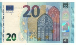 """20 EURO  """"Germany""""   DRAGHI    R 010 F2      RB0225070988  /  FDS - UNC - EURO"""