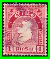 "IRLANDA - (IRELAND) – ( EIRE ) SELLO AÑO 1922-23 ""MAP OF IRELAND"" - 1922 Provisional Government"