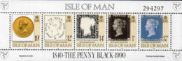 ISLE OF MAN 1990 150th Anniversary Of The Penny Black Sheetlet - Isle Of Man