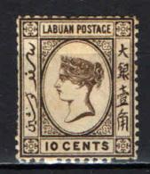 LABUAN - 1894 - Queen Victoria - USATO - North Borneo (...-1963)