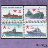 USSR 1974 Mi.4259-4262 Soviet Navy./ Set,4v (MNH **) - 1923-1991 URSS