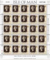 ISLE OF MAN 1990 150th Anniversary Of The Penny Black Sheetlet - Isla De Man