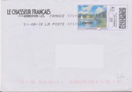 Toshiba 09831A-64 Du 31-08-19 4 Signes Inférieurs Et Supérieurs (timbre En Ligne Claude Monet) - Marcofilie (Brieven)