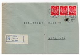 1939 YUGOSLAVIA, SLOVENIA, ZETALE TO BELGRADE, REGISTERED COVER - 1931-1941 Royaume De Yougoslavie