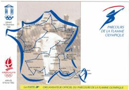 LCTN58/2 - FRANCE CP DE SERVICE PARCOURS FLAMME OLYMPIQUE CIRCULEE NIORT / GRENOBLE - Autres